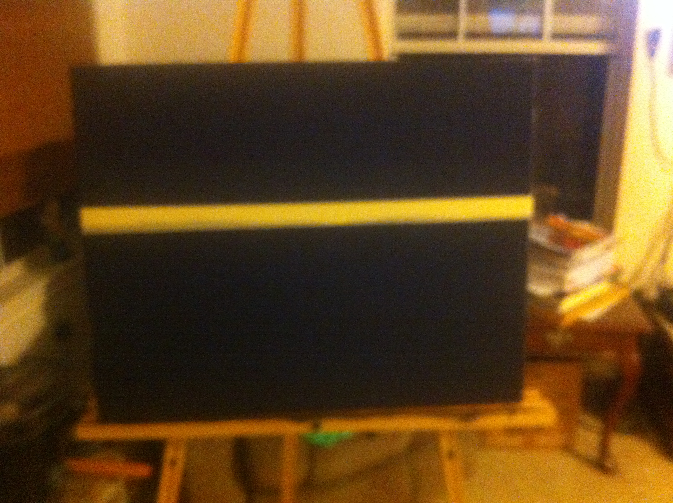 Canvas covered in black gesso